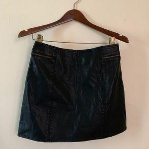 New Faux Leather Black Mini Skirt Size 4